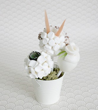 White Candy Flower Bouquet