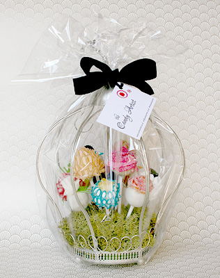 Flower Lollipop Gift Basket