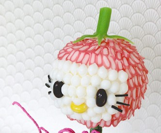 Hello Kitty Strawberry Head Sweet Tree